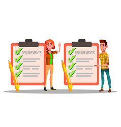 requirements checklist schedule compliance vector image