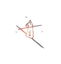Risk management equilibrium concept sketch hand vector