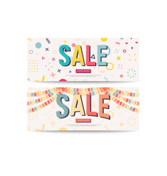 sale banner template design banners vector image