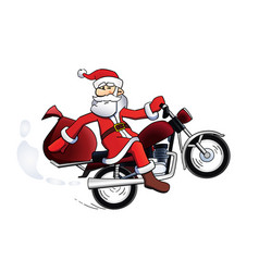 Santa bike vector