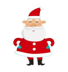santa claus isolated on white background vector image