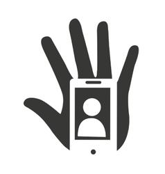 Selfie photographic smartphone icon vector