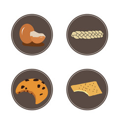 Set bakery products vector