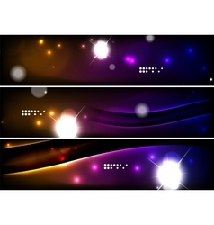 Set of banner header backgrounds with place for vector image
