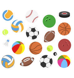 set of realistic sport balls for football vector image