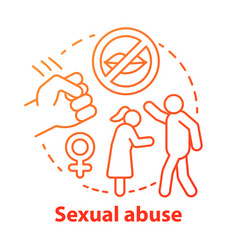 Sexual abuse concept icon domestic violence vector
