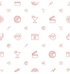 Shot icons pattern seamless white background vector