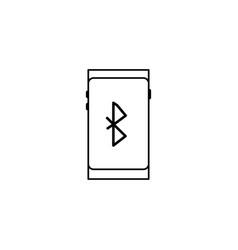 smartphone bluetooth icon vector image