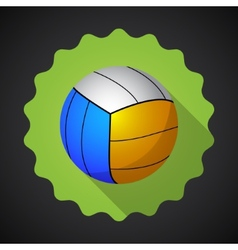 sport ball volleyball flat icon background vector image