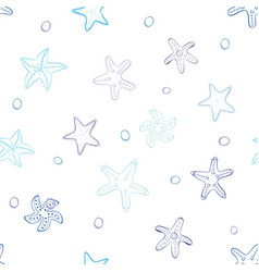starfish with bubbles vector image