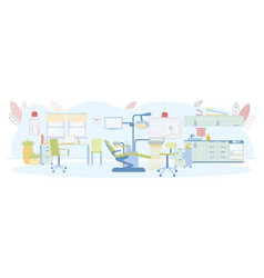 Stomatology clinic office furniture and equipment vector