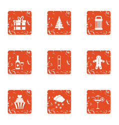 Sweetheart icons set grunge style vector