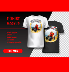 T-shirt template fully editable with vintage quad vector