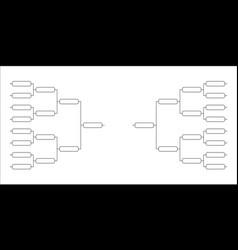 team tournament bracket vector image