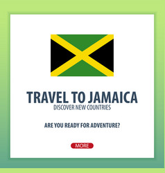 Travel to jamaica discover and explore new vector