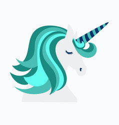 Unicorn cute - card and shirt design cartoon vector