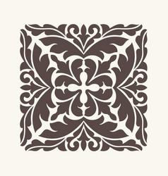 Vintage ornament for design vector