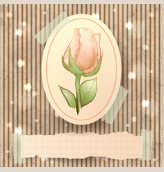 vintage with rose vector image
