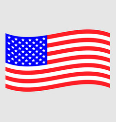waving american flag icon vector image
