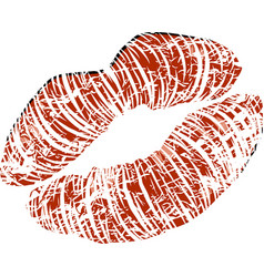 woman s mouth with glossy sexy lips vector image