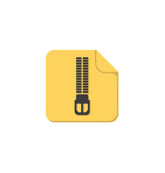 Zip archive color icon in flat style vector