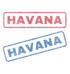 Havana textile stamps vector