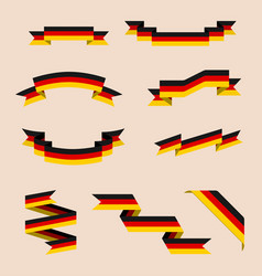 ribbons or banners in colors of german flag vector image