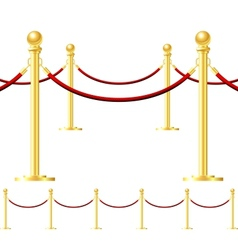 Rope barrier isolated on white vector image vector image