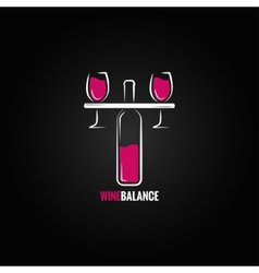 wine red and white balance concept design vector image vector image