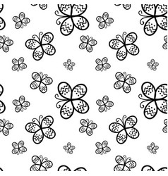 black butterfly on white background vector image