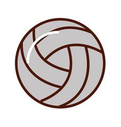 brightly volley ball cartoon vector image