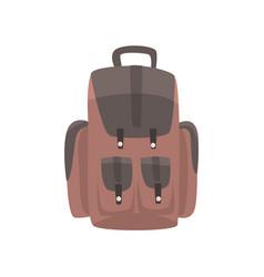 brown backpack casual rucksack vector image
