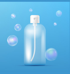clean plastic bottle template with dispenser for vector image vector image