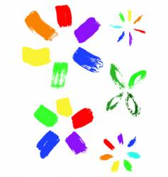 collection of color ink effects vector image vector image