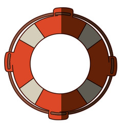 colorful flotation hoop with rope and middle vector image vector image