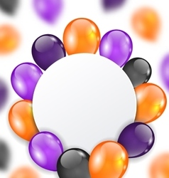 Halloween Card with Orange Violet and Black vector image