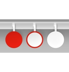 Set of Blank White Red Paper Plastic Price Wobbler vector image