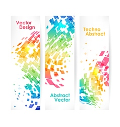 Abstract multicolored geometric background set vector image