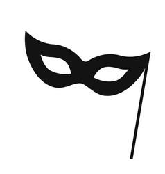 carnival mask logo design vector image