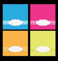 flower card background designs vector image vector image