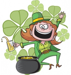 girl leprechaun vector image