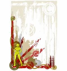green industrial girl vector image vector image