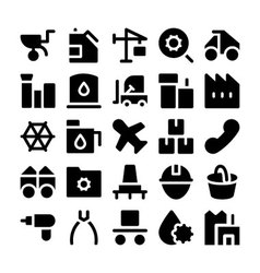 Industrial Colored Icons 5 vector image vector image