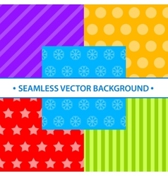 Set of simple seamless different colors vector image vector image