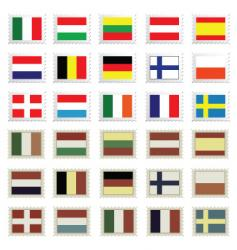 stamp flags vector image vector image