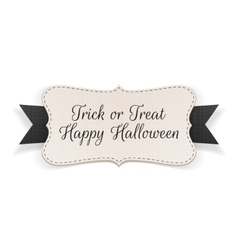 Trick or treat halloween banner vector
