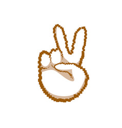victory sign peace hand gesture people emotion vector image