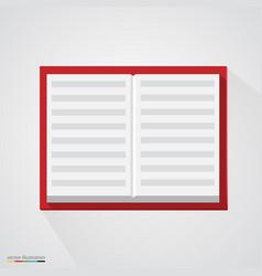 brown organizer notepad notebook vector image