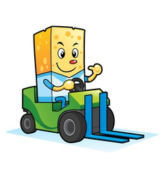Cheese Mascot Characters vector image vector image