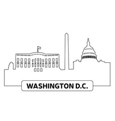 cityscape of washington vector image